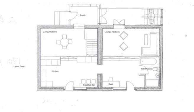 2 bed ground floor drawing