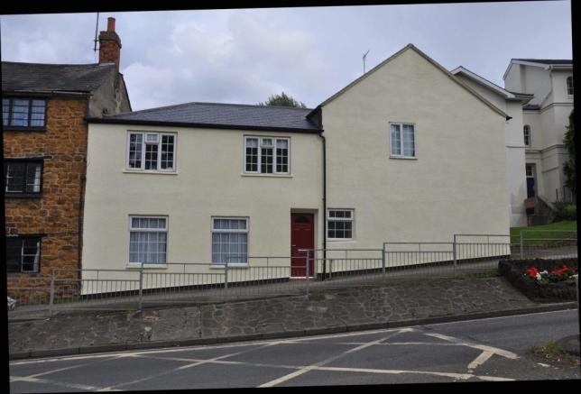 The Flat is self contained within the building itself - the flat is ground floor to the left of the building