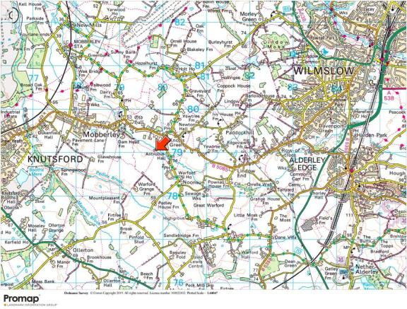 Map Of England Knutsford.4 Bedroom Detached House For Sale In Faulkners Lane Mobberley