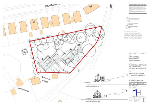 19_00069_FL-PROPOSED_SITE_PLAN_LEVELS_AND_DRAINAGE