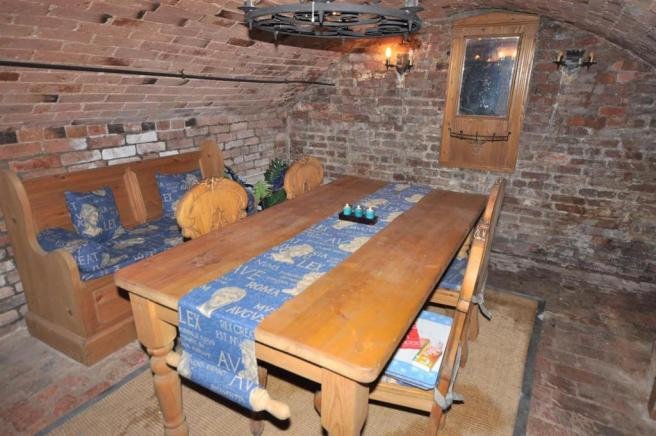 FURTHER VIEW OF CELLAR DINING ROOM