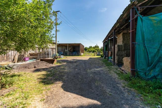 Yard and outbuilding
