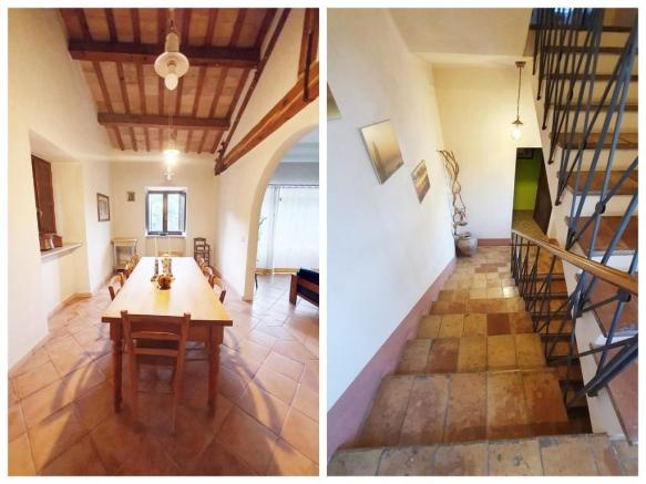Dining and stairs