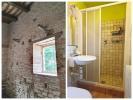 Stone wall and bath