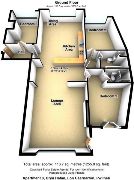 Apartment 3, Bryn Hafan, Lon Caernarfon, Pwllheli.