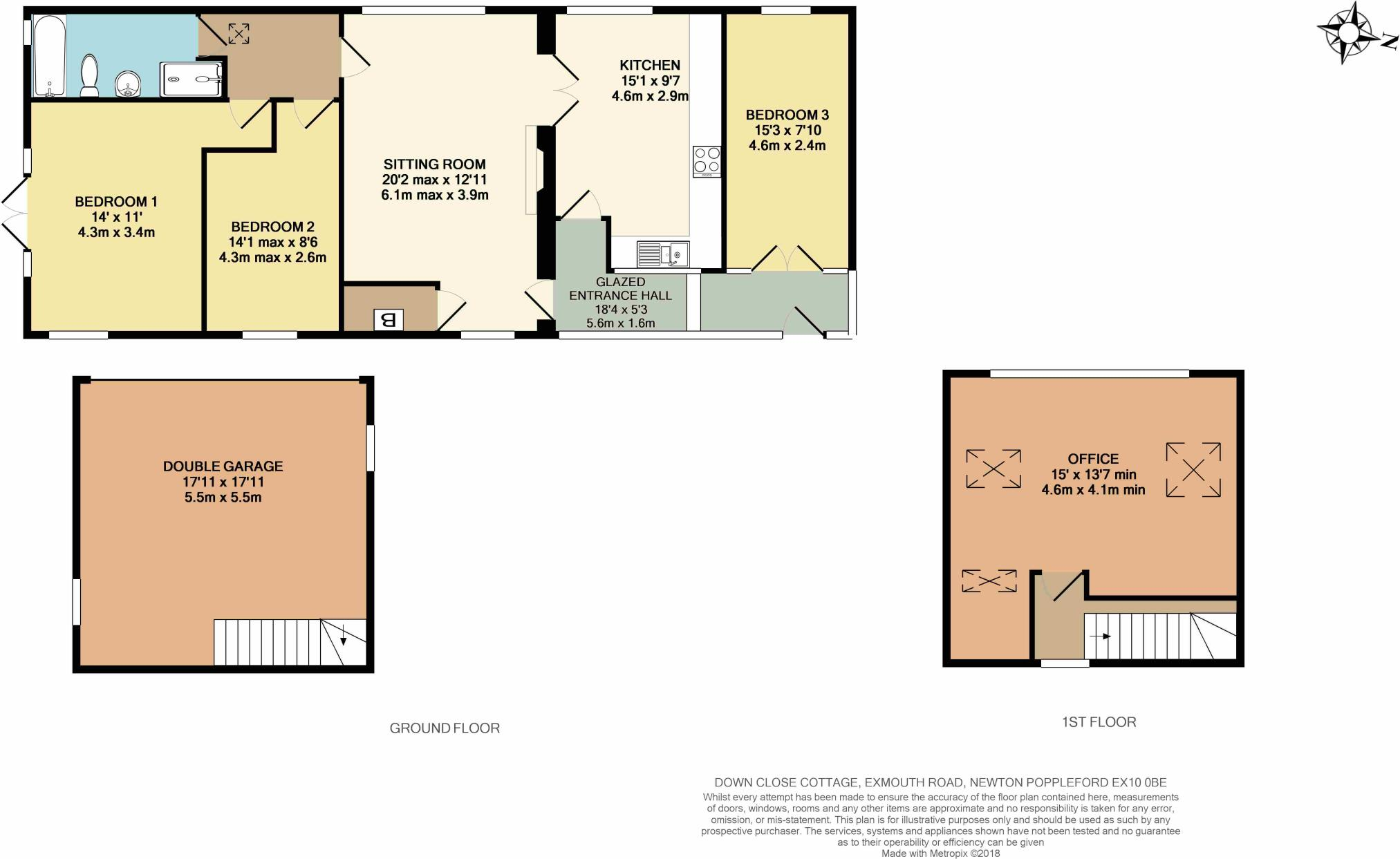 3 Bedroom Detached Bungalow For Sale In Down Close Newton Doubleglazingdiagram01jpg Poppleford Ex10