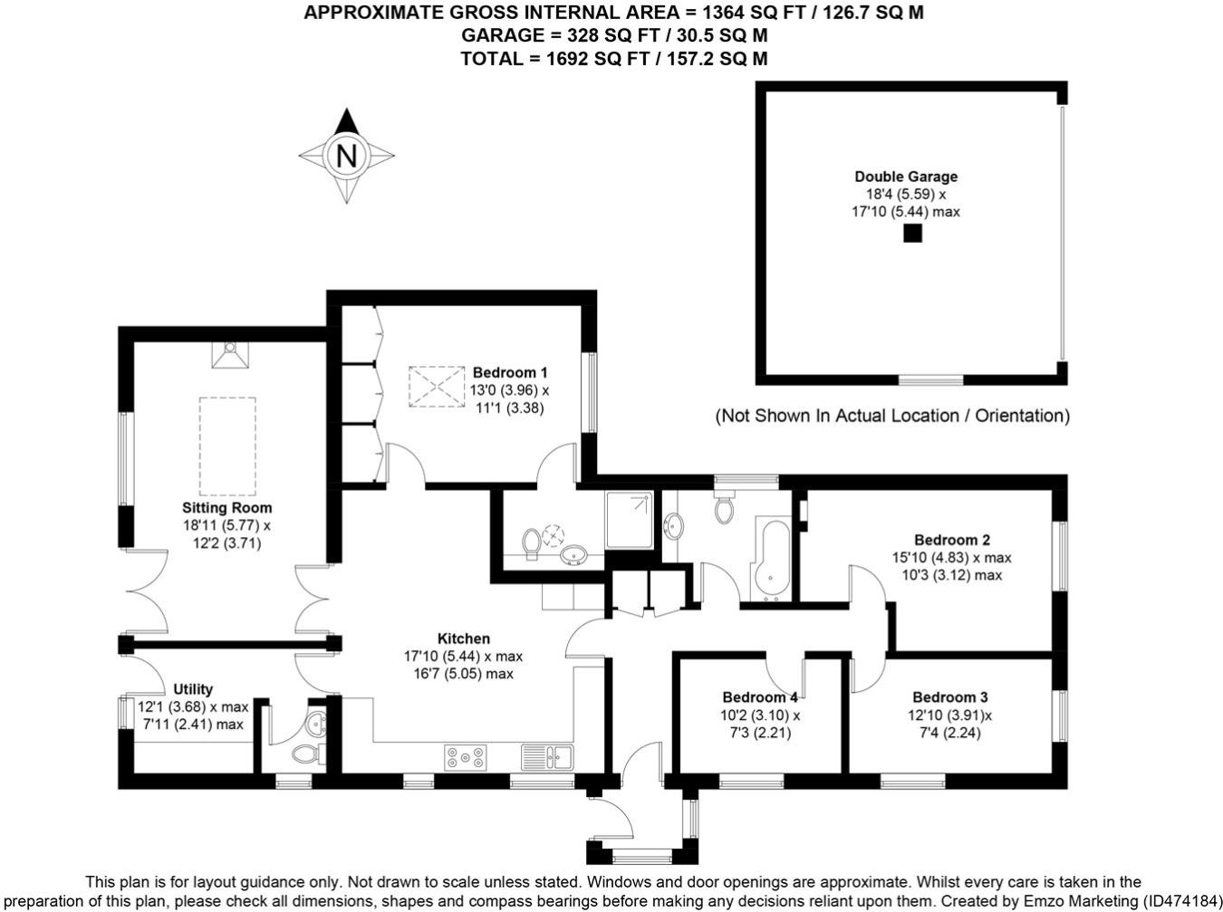 4 Bedroom Bungalow For Sale In Canada Grove Easebourne Midhurst Diagram 1 Black Is Check 2 Double West Sussex Gu29