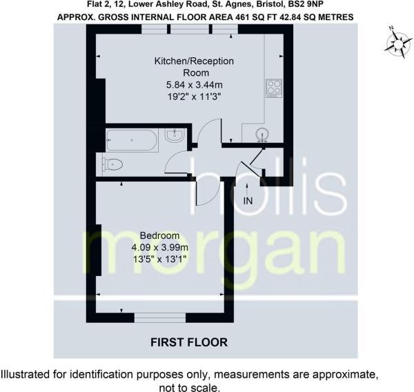 Flat 2, 12, Lower Ashley Road, St. Agnes, Bristol,