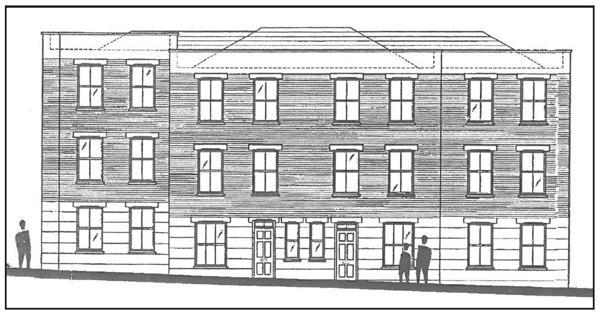 Proposed east elevation.