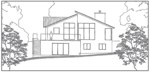 Proposed south elevation.