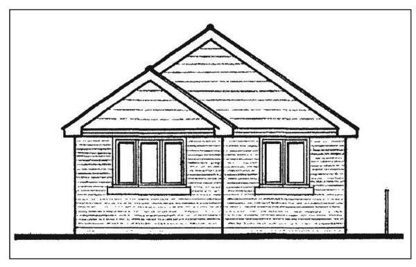 Proposed front elevation for each dwelling.