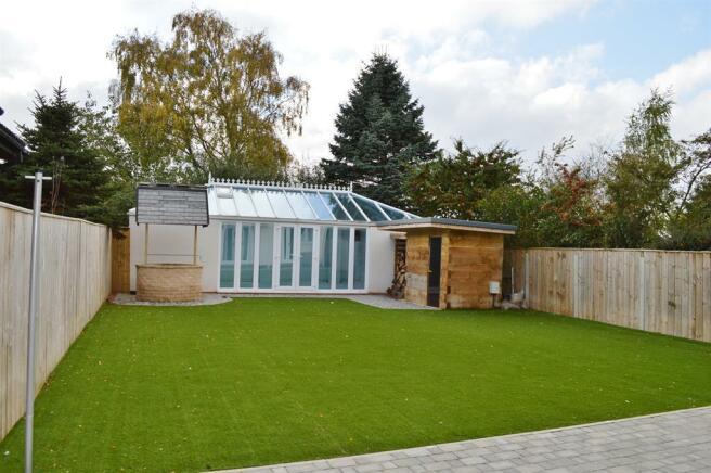 Rear Garden to Swimming Pool