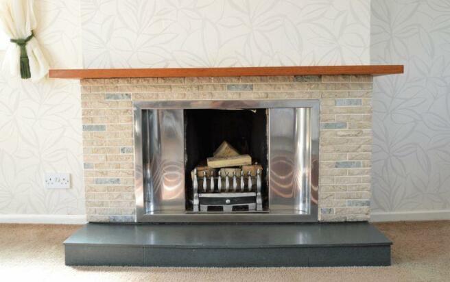 open fireplace...