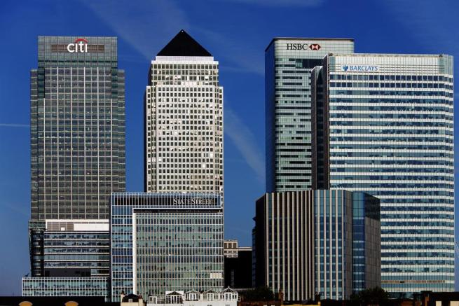 Canary Wharf, financial district, London, daylight