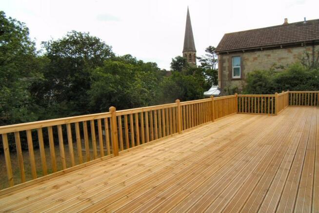 Wood decking terrace