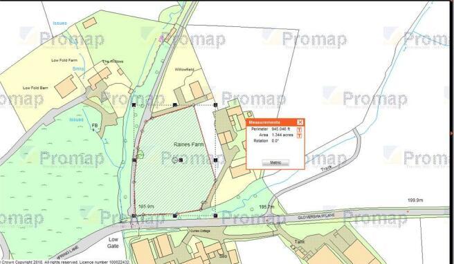 Plan Of Paddock