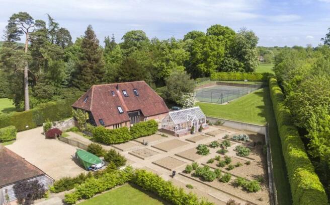 Barn & Tennis Court