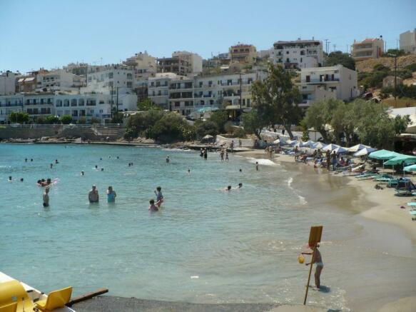 Nearby sandy beach Amoudi