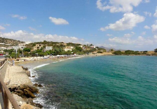 The nearby Ammoudara beach