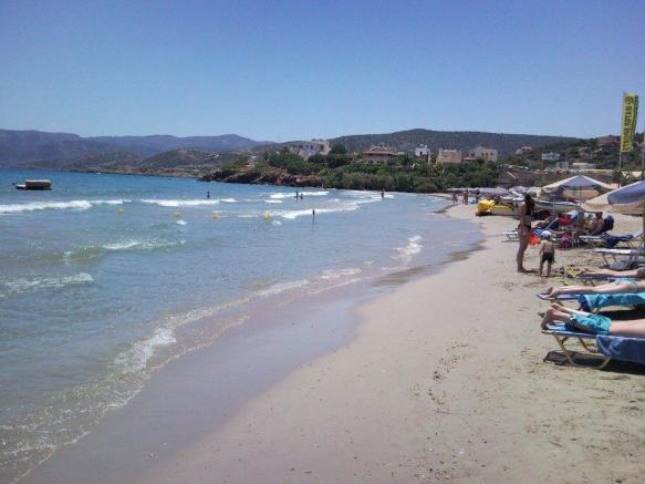 The nearby beach of Almiros