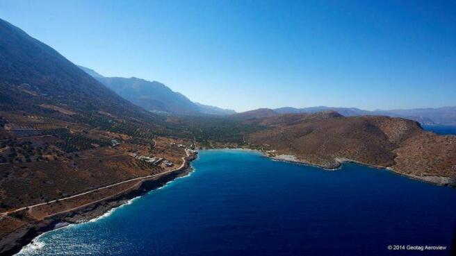 The coastal area of Tholos, Kavousi