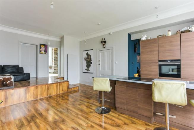 Open Plan Reception Room with Fitted Kitchen