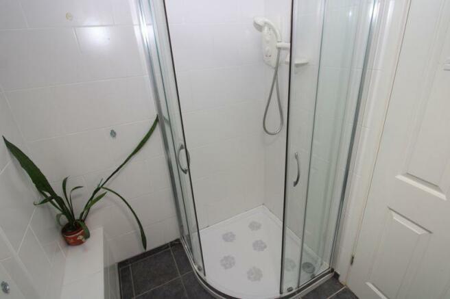 Shower in bath...