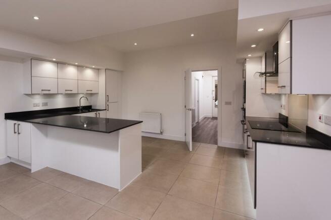 Kitchen with hallway view
