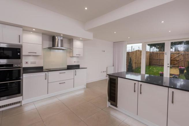 Kitchen with views to the racecourse