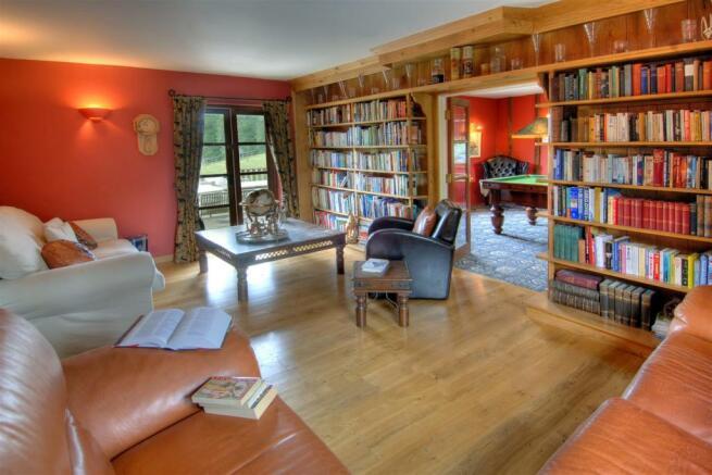 Barn Library Billiards Room