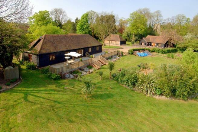 Manor Farm House Barn Aerial View
