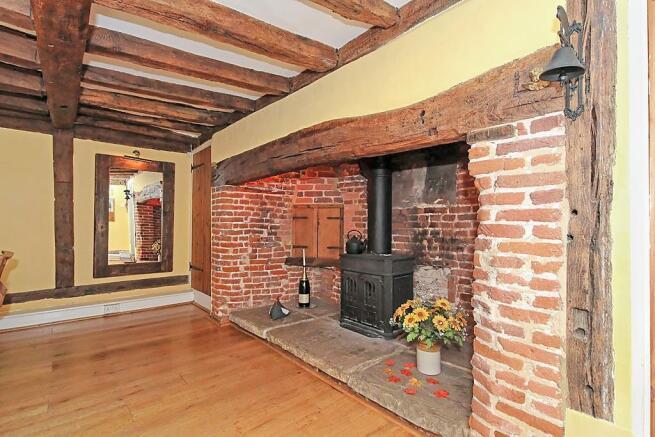 Manor Farm House Dining Room Fireplace