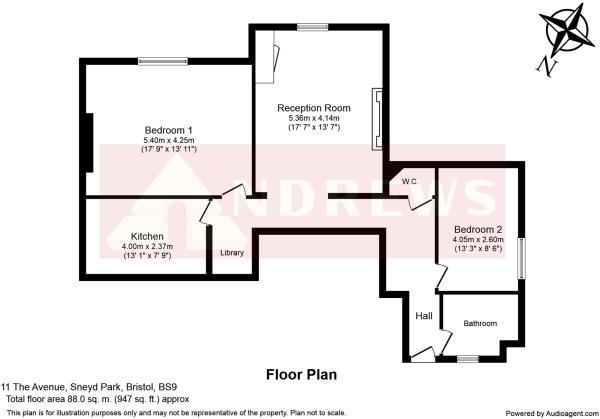 Flat 6 11 The Avenue Floorplan