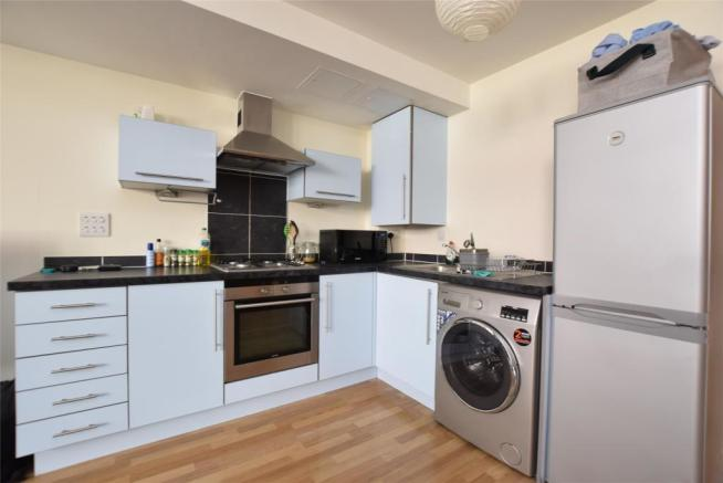Kitchen with gas hob