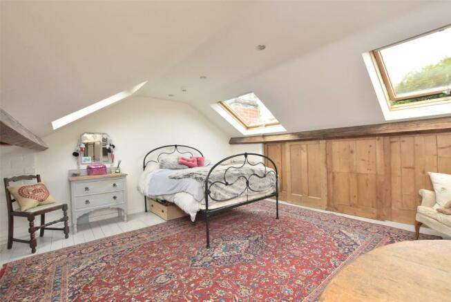 Loft used as a bedroom