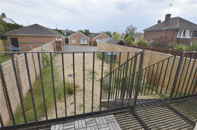 View to rear communal garden