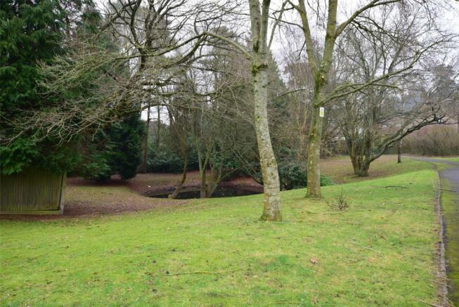 Land behind estate