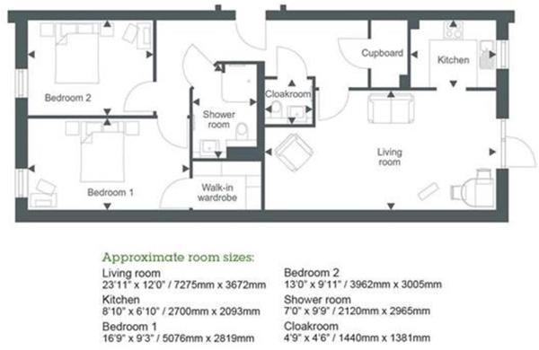 Plot 2 The Dairy (2 bed)