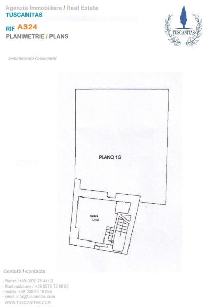3 bedroom town house for sale in tuscany siena pienza italy - Agenzie immobiliari maser ...