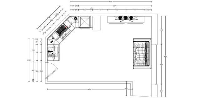 Floor Plan - Living Area/Kitchen
