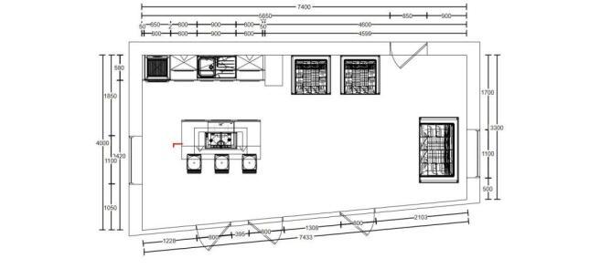 Floor Plan - Living Area / Kitchen