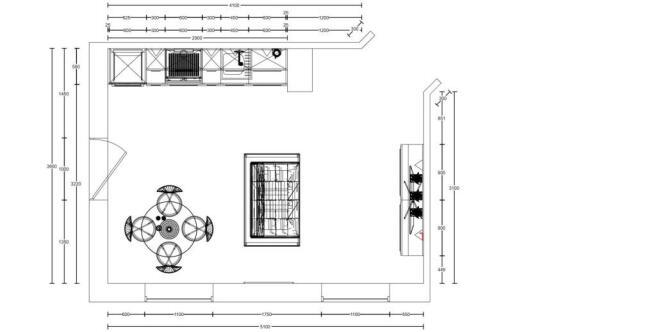 Floor Plan - Lounge / Kitchen