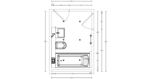 Floor Plan - Bathroom