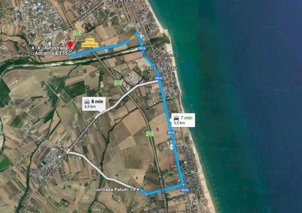 Distance from Fermo
