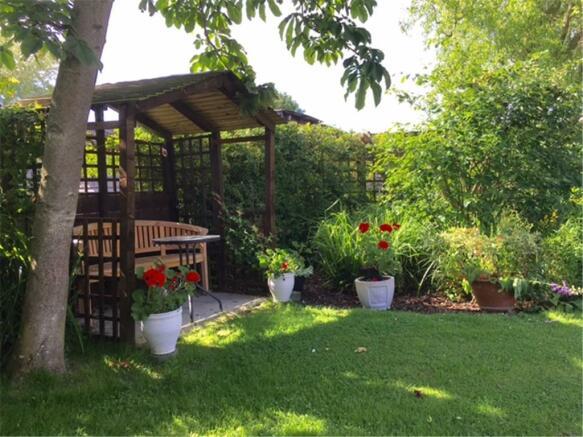 Treetops rear garden seating area