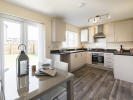 Kitchen / dining area with French doors