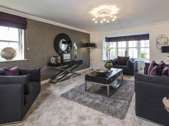 Light and spacious lounge with feature bay window