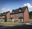 External CGI of 4-bedroom Hereford townhouse
