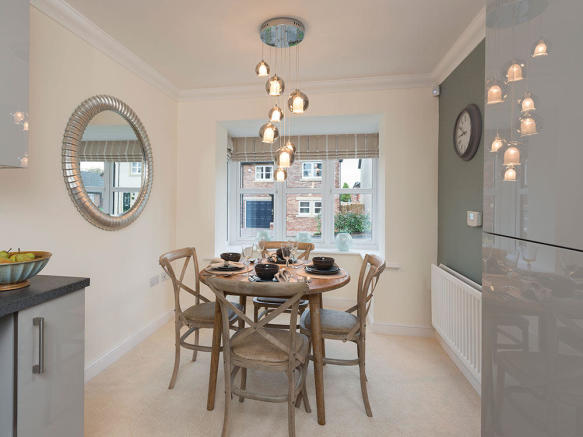Dining area with feature bay window