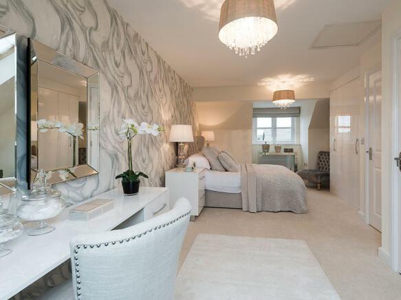 Beautiful master bedroom with en-suite